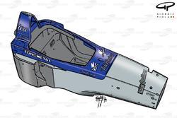 Vue d'ensemble du châssis de la Minardi M01