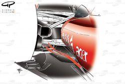 Ferrari F10 lowline exhaust, blowing the diffuser