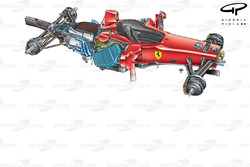 Ferrari F60 3/4 view stripped down