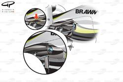 Développement de la carrosserie à l'arrière de la Brawn BGP001