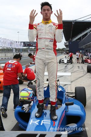 Race winner Presley Martono
