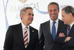 Miguel Angel Mancera, Bürgermeister von Mexico City; Carlos Slim Domit