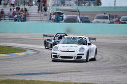 #72 MP2A Porsche GT3 driven by Warren Cooper & Shane Lewis of MGM Motorsports, #8 FP2 Wolf GB08 driv