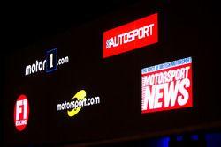Logos: Moto1.com, Autosport, F1 Racing, Motorsport.com, Motorsport News