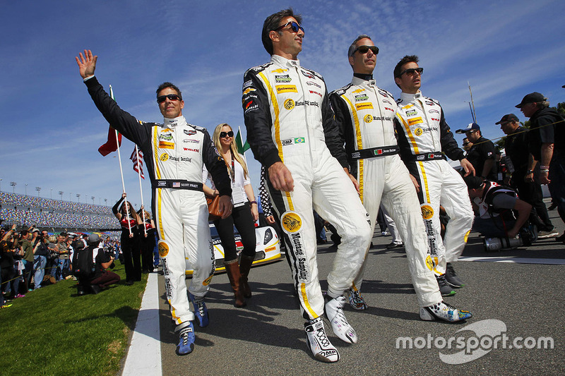 6. Auftritt des Action-Express-Racing-Teams: Joao Barbosa, Christian Fittipaldi, Filipe Albuquerque und Scott Pruett