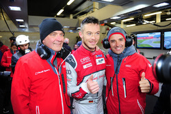 Polesitter LMP1 Andre Lotterer, Benoit Tréluyer, Audi Sport Team Joest with Dr. Wolfgang Ullrich, Head Of Audi Sport