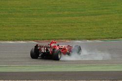 Ferrari F2007, testacoda virajı