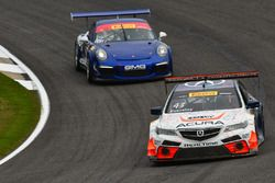 #43 RealTime Racing Acura TLX-GT: Ryan Eversley, #17 Global Motorsports Group Porsche 911 GT3 Cup: A