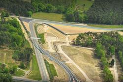 Une vue aérienne des virages d'Arnage et Indianapolis avec un nouvel aménagement