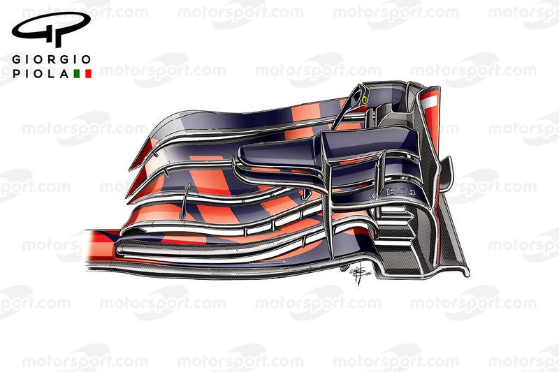 Red Bull RB12, l'ala anteriore usata nel GP del Belgio
