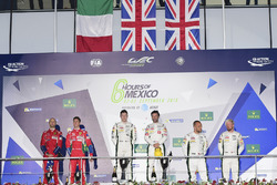 LM GTE Pro podium: first place Richie Stanaway, Darren Turner, Aston Martin Racing, second place Gia