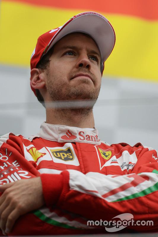 Себастьян Феттель, Ferrari, на подіумі