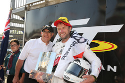 Race winner Bruce Anstey