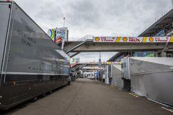Aston Martin Racing paddock