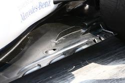 Détails du fond plat de la Williams FW38