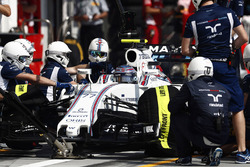 Valtteri Bottas, Williams FW38 aux stands