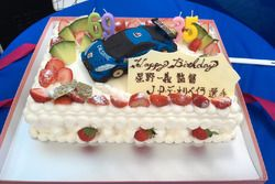#12 Team Impul Nissan GT-R Nismo GT3: Joao Paulo de Oliveira birthday cake