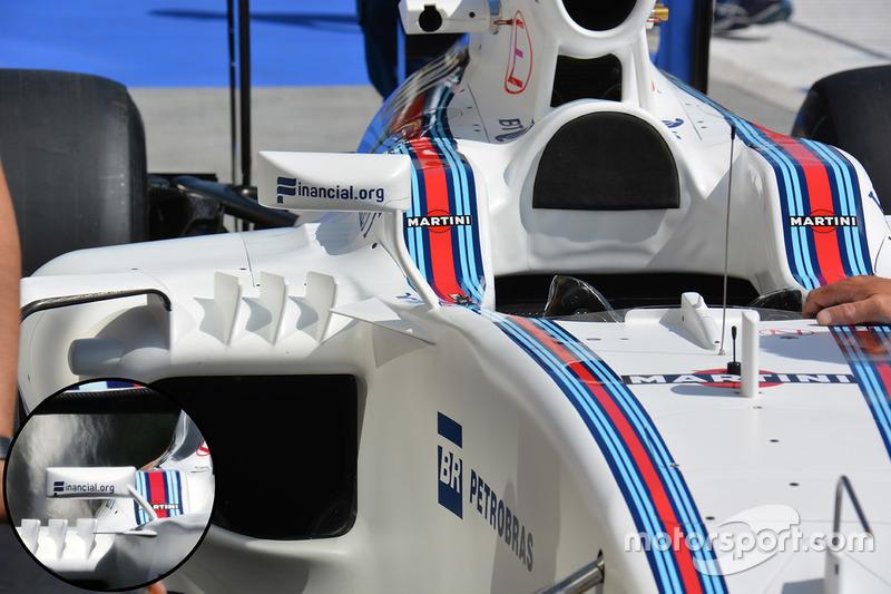 Williams FW38: Vergleich Rückspiegel