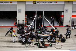 Nico Hülkenberg, Sahara Force India F1 VJM09 s'arrête aux stands