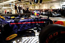 The helmet of Daniel Ricciardo of Australia and Red Bull Racing on the Red Bull Racing Red Bull-TAG