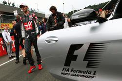 Romain Grosjean, Haas F1 Team sur la grille