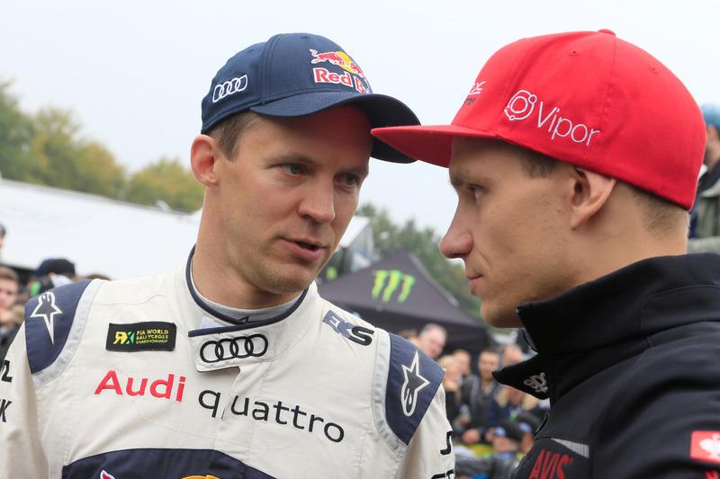 Mattias Ekström, EKS RX; Niclas Grönholm, Olsbergs MSE