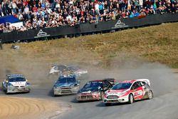 Kevin Eriksson, Olsbergs MSE; Petter Solberg, Petter Solberg World RX Team; Andreas Bakkerud, Hoonig
