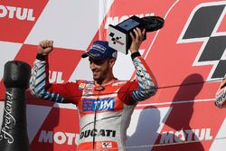 Podium: second place Andrea Dovizioso, Ducati Team