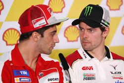 Andrea Iannone, Ducati Team and Cal Crutchlow, LCR Honda