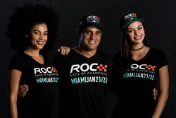 Juan Pablo Montoya with the ROC girls