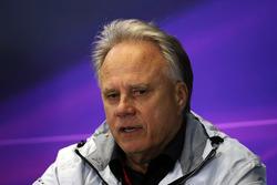 Gene Haas, Président de Haas Automotion lors de la conférence de presse