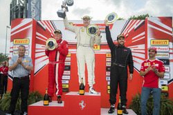 Trofeo Pirelli Am podium: winner Steve Johnson, second place James Weiland, third place Arthur Roman