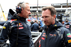 Christian Horner, team principal Red Bull Racing et Jonathan Wheatley, manager Red Bull Racing