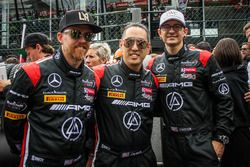 Members of Rock band Linkin Park in the starting grid