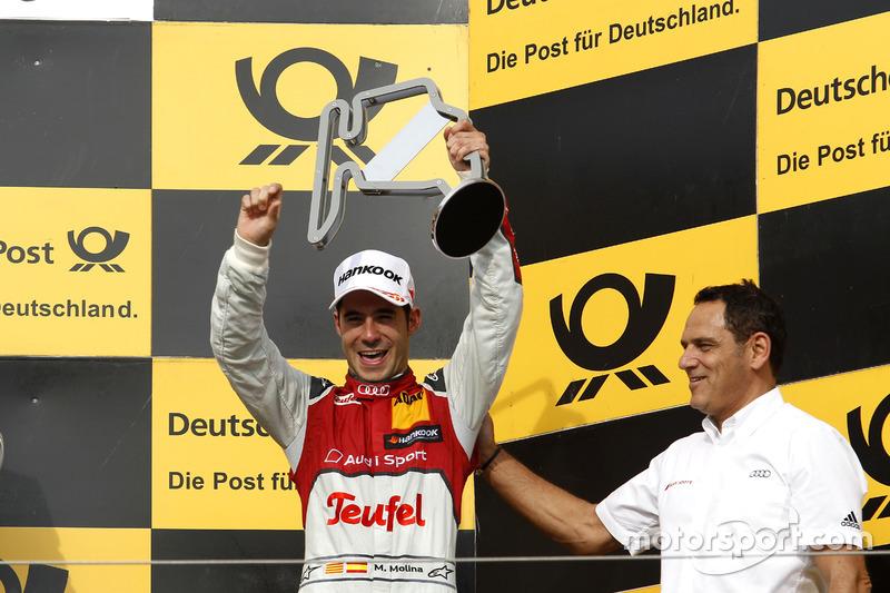 Podium: third place Miguel Molina Audi Sport Team Abt Sportsline, Audi RS 5 DTM with Hans-Jurgen Abt