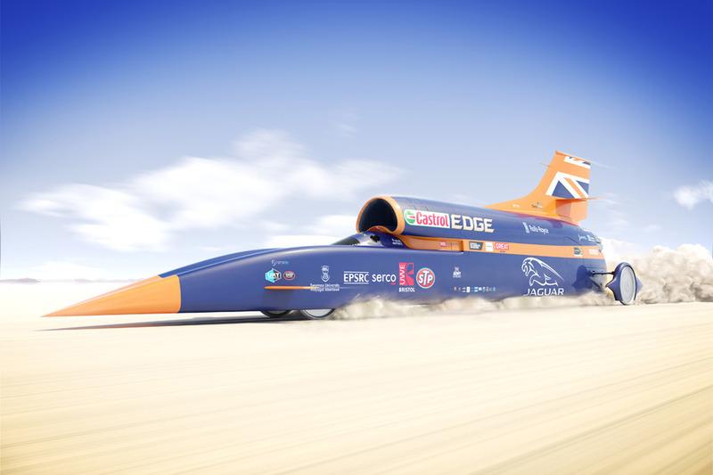 O BloodhoundSSC buscará a incrível marca de 1.600 km/h.