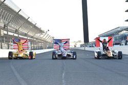 Top 3 en clasificación: Ryan Hunter-Reay, Andretti Autosport Honda, Josef Newgarden, Ed Carpenter Ra