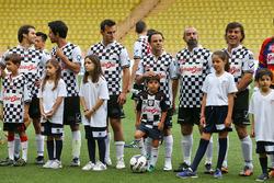 Une équipe d'un match de football caritatif