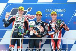 Podio: ganador de la carrera Johann Zarco, Ajo Motorsport; Lorenzo Baldassarri, Forward Racing el se