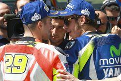 Polesitter Valentino Rossi, Yamaha Factory Racing, mit Andrea Iannone, Ducati Team
