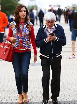 Bernie Ecclestone és felesége, Fabiana Flosi