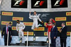 Podium: Sieger Nico Rosberg, Mercedes AMG F1 Team, 2. Lewis Hamilton, Mercedes AMG F1 Team, 3. Kimi