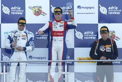 Race 3 podium: winner Marcos Siebert, Jenzer Motorsport, second place Simone Cunati, Vincenzo Sospiri Racing, third place Ye Yifei, Mücke Motorsport