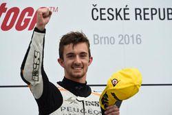 Podium: race winner John McPhee, Peugeot MC Saxoprint