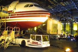 Презентация Jordan Honda: самолет DHL, аэропорт Брюсселя