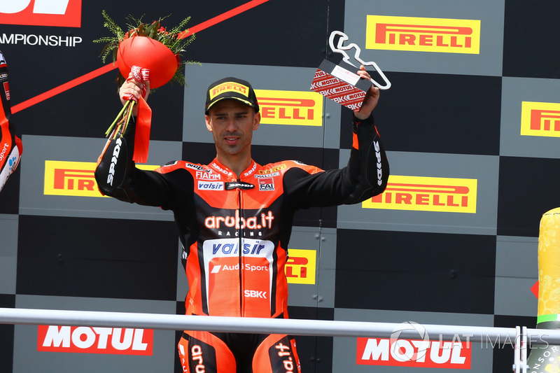 Podio: Marco Melandri, Aruba.it Racing-Ducati SBK Team