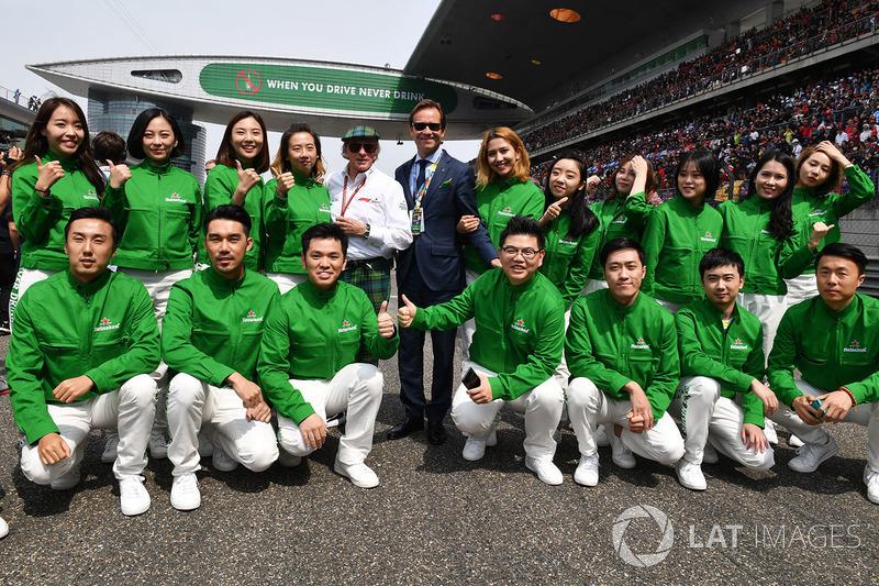 Jackie Stewart, y la foto con el grupo Heineken