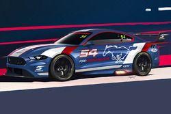 Nima Nourian'ın hazırladığı Ford Mustang illüstrasyonu