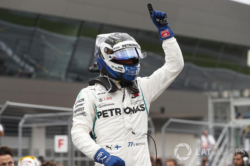 Le poleman Valtteri Bottas, Mercedes AMG F1