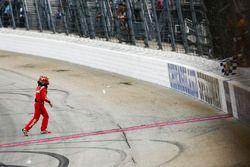 Kyle Busch, Joe Gibbs Racing, Toyota Camry Skittles Red White & Blue celebrates